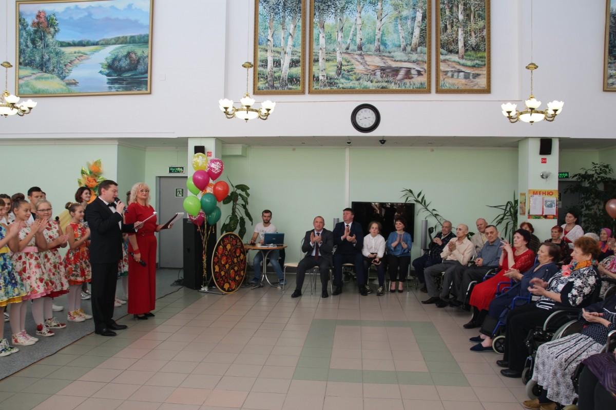Завершающая часть праздничного мероприятия, посвященного Международному дню пожилого человека